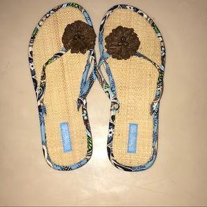 2️⃣ for $10 Vera Bradley Flip Flops Sandals Medium